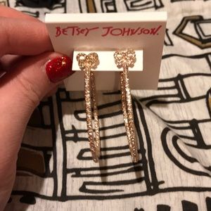NWT Betsy Johnson hoop earrings